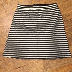 Anthropologie black white mod skirt